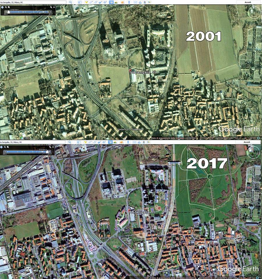 foto area via Senigallia 2017 e 2001