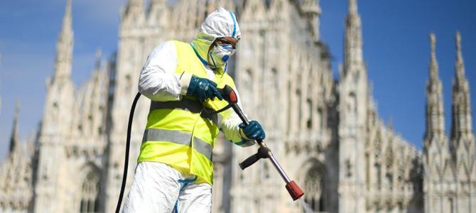 Sanificazione della strade a Milano