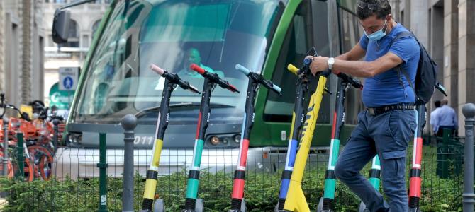 Mobilità: un aggiornamento sul tema monopattini. E nel 2020 calano gli incidenti d'auto