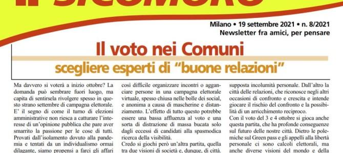 È uscito il numero di settembre de il Sicomoro, con un bell'editoriale di Fabio Pizzul