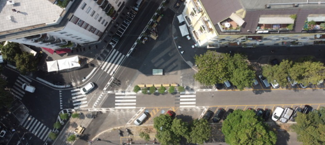 Piazzale Bacone riapre, zona 30 e maggiore sicurezza oltre a un patto di collaborazione per la sua cura