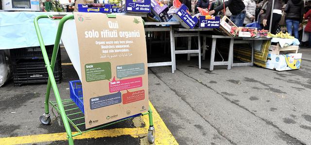 Commercio. In un mese la raccolta differenziata dell'umido ha superato il 23% nei mercati della città