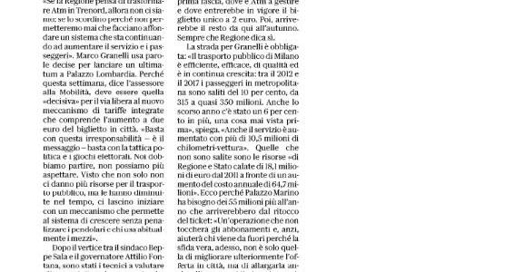 Il trasporto pubblico a Milano è forte e vuole crescere. Ma servono risorse. Che ci sono:  Regione Lombardia decida cosa vuol fare.
