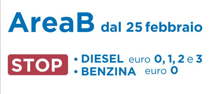 Area B. Lunedì 25 febbraio parte la ztl anti inquinamento.