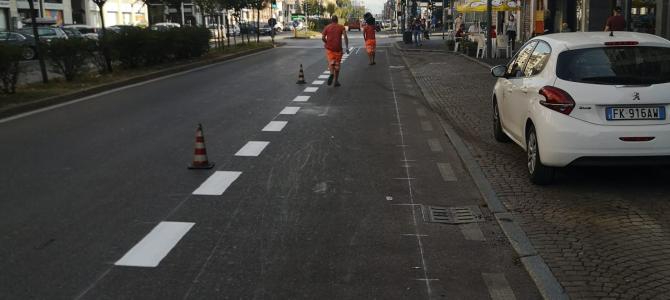 Viale Monza partiti i lavori della ciclabile