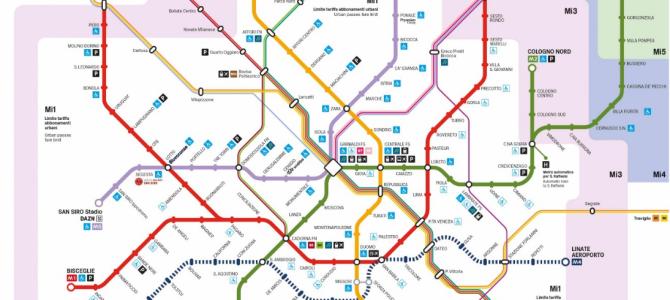 La nuova mappa della metropolitana di Milano