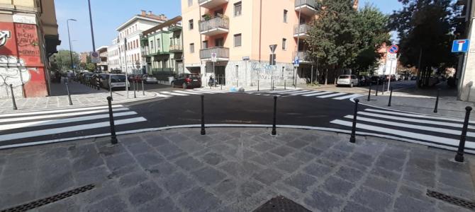 Via Gola, conclusa la riqualificazione tra le vie Segantini e Pichi